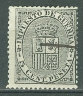 ESPAÑA  - IMPUESTA DE GUERRA1873: Edifil 141 / YT 1 / Sc MR1 / Mi 1 / SG W217, O - FREE SHIPPING ABOVE 10 EURO - Impuestos De Guerra