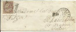 VE2043-Lettera Da Firenze (Capitale D'Italia) Per La Svizzera Con 30 Cent. D.L.R. 05.7.1867 Rarissima-Firma Chiavarello - 1861-78 Vittorio Emanuele II