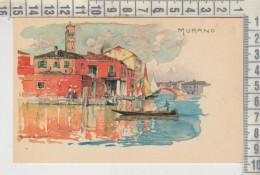 MURANO VENEZIA ILLUSTRAZIONE FIRMATA MANUEL WIELANDT FP Riproduzione - Venezia (Venice)