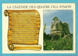 08 Ardennes   BOGNY SUR MEUSE Monument Des Quatre Fils Aymon Voir Les 2 Scans Non Voyagée - Autres Communes