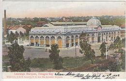 Portuguese E.Africa Postcard: Market House, Lourenco Marques-London, 21 Ap 1908 - Portugal