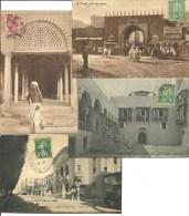 Tunisie, Tunis, Rue Palais,  Lot De 4 Cartes  (bon Etat) - Tunesien