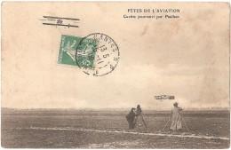 Dépt 51 - BÉTHENY - FÊTES DE L'AVIATION - Curtiss Poursuivi Par Paulhan - (photographe, Caméraman) - Reims - Bétheny