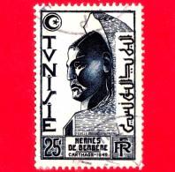 TUNISIA - Usato - 1950 - Hermès De Berbère - 25 - Oblitérés