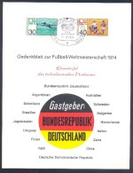 Germany 1974 Folder: Football Fussball Calcio Soccer: World Cup 1974; Weltmeisterschaft FIFA Kongress; Participating - Coppa Del Mondo