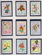 P 150) Polen 1965 Mi# 1612-1620 O: Orchideen - Orchidee