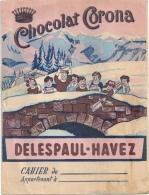 Protège-cahier Chocolat CORONA - Buvards, Protège-cahiers Illustrés