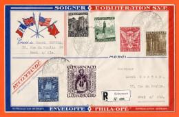 Luxemburg 1947 - Einschreibebrief Von Echternach Nach Esch-sur Alzette Von Pfingsten 1947 - Mi 417 - 422 - Brieven En Documenten