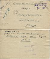 BIGLIETTO PRIGIONIERI POW CAMP 305 KASSASIN EGITTO 1945 X BARI - 1900-44 Vittorio Emanuele III