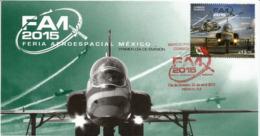 L'Armée De L'Air Mexicaine (Airbus Helicopters: Eurocopter EC 725 Super Cougar & Beechcraft T-6 Texan II)   FDC  2015 - Mexiko