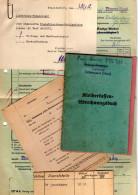 Lot Reichs - Bahn Kleiderkassenabrechnungsbuch /Belege Bahnhof Hohenstein Aartal /Nass. Kleinbahn M. Beleg Eiserne Hand - Alte Papiere
