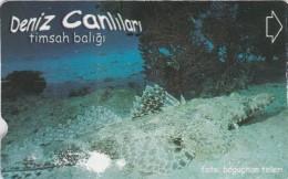 Turkey, N-345A,  Sea Creatures, Timsah Baligi, 2 Scans.   NB : Fold - Turquie