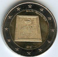 Malte Malta 2 Euro 2015 Constitution - Malta