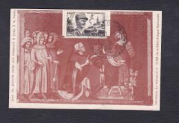 815 Leclerc 6 F Noir CPA Jean De Joinville Manuscrit Louis X Cachet Commemoration VIIè Croisade Joinville 52 T.L N°330 - 1921-1960: Modern Period