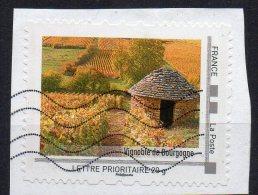 FRANCE - COLLECTORS - VIGNOBLE DE BOURGOGNE - Oblitéré - Sur Fragment - - Francia