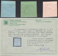 A199) ASI SARDEGNA 1853 - SAGGI MATRAIRE IN COLORI CAMBIATI NUOVI - Sardaigne