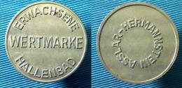 03325 GETTONE TOKEN JETON WERTMAKE ERWACHSENE HALLENBAD ASSLAR HERMANNSTEIN - Zonder Classificatie