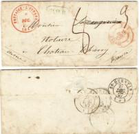 FR008) BELGIO LETTERA COMPLETA PREFILATELICA DEL 26.12.1847 - 1830-1849 (Belgique Indépendante)