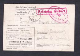 Kriegsgefangenenpost Prisonnier Guerre Thiel Camille  STALAG VI D 49 Dortmund Vers Bassuet En 1941 - Marcophilie (Lettres)