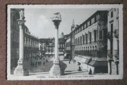 VICENZA --1916  -PIAZZA DEI SIGNORI - ANIMATA --   FP   BELLISSIMA - Italia