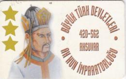 Turkey, TR-C-003-2, White Hun Empire 420 - 562 AD Founder AKSUVAR, 2 Scans.  Chip Type 2 - Turquie
