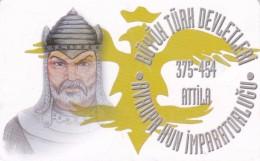 Turkey, TR-C-004-1, Europe Hun Empire 375 - 454 AD Founder ATTILA, 2 Scans.  Chip Type 1 - Turquie