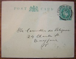 "Grande Bretagne 1903 Entier Postal Avec Repiquage ""civil Service Co-opérative Society (londres) - Stamped Stationery, Airletters & Aerogrammes"