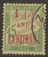 #101# ZANZIBAR TAXE N° 3 Oblitéré