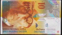 SWITZERLAND TEN FRANCS NOTE. IN A VERY NICE CRISP HIGH GRADE. - Svizzera