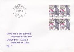 Switzerland FDC 1987 Unwetter In Der Schweiz (G75-90) - FDC
