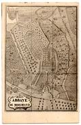 """PARNOY-en-BASSIGNY (52) ABBAYE De MORIMOND.1928. AU VERSO, TRES BEAUX CACHETS AMBULANTS """" LANGRES à NANCY """" - Francia"""