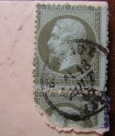 1869 Circulaire De Bordeaux Affranchie Curieusement Avec Un Timbre Et Demi Du N°19 - Postmark Collection (Covers)