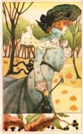 Portrait De Femme, Art Nouveau - Edition André Balland - Mujeres