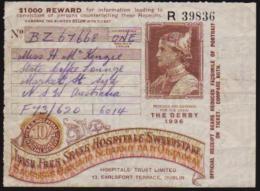 "1936 "" THE DERBY"" IRISH SWEEPSTEAK TICKET SOLD IN AUSTRALIA, IN A VERY NICE CONDITION. - Irlanda"