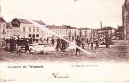 Souvenir De TIRLEMONT - Le Marché Aux Porcs - Superbe Carte Très Anmée - Tienen