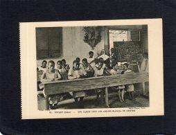 """61863     Gabon,  Africa,  Une  Classe Chez Les """"Soeurs Bleues"""" De Castres,  NV - Gabon"""