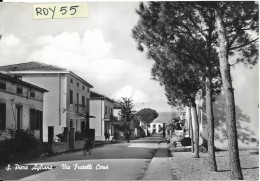 Toscana-pistoia-s.piero Agliana Via Fratelli Cervi Veduta Molto Animata Anni 50/60 - Italia