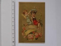 CHROMO Doré ANGE: Fillette Couronne Fleur - ANGELOT ANGES - ORLEANS Fabrique Chaussures Cousues - BOGNARD - Autres