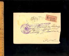Courrier Recommandé RAR 1923 Intendance Militaire MAcon Service Genéral Des Pensions / En Franchise - France