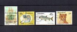 Zimbabwe    1988-89  .-  Y&T  Nº    162 - 167 - 185 - 187 - Zimbabwe (1980-...)