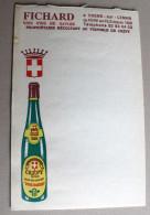 Carnet Publicitaire Fichard Vins Fins De Savoie Vignoble CREPY - Autres Collections