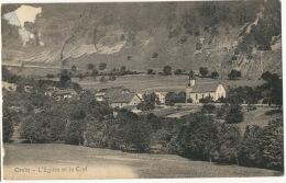 Orvin L' Eglise Et Le Cret  Timbrée 1918 Edit Kissling Bienne - BE Berne