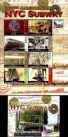 St. Vincent & Grenadines - 2004 - Centenary Of New York City Subway - Mint Sheetlet + Souvenir Sheet - St.Vincent & Grenadines