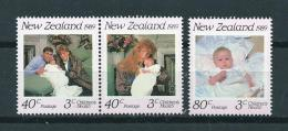 1989 New Zealand Complete Set Prince Andrew,health MNH,Postfris,Neuf Sans Charniere - Ongebruikt