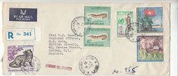 Laos: Registered Cover, British Embassy, Vientiane, To London, 10-14 April 1972 - Laos