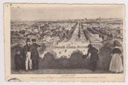D 75 - ANCIEN PARIS - 34 - Vue Sur La Porte De Neuilly Et Les Champs-Elysées, Prise De L'Arc De Triomphe 1840 - France