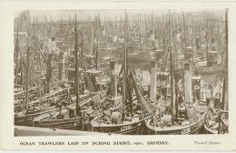 Grimsby Ocean Trawlers Laid Up During Strike 1901 Greve Edit Peveril - Altri