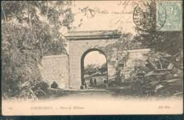 FRANCE TYPE BLANC N°111 OB. CHERCHELL ALGERIE 1908 SUR CPA  DE CHERCHELL PORTE DE MILIANA TB - 1900-29 Blanc