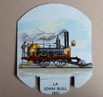 Plaque Métal Moutarde PARIZOT Dijon Locomotive John Bull 1831 Train - Trains And Planes