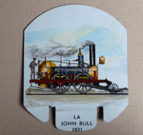 Plaque Métal Moutarde PARIZOT Dijon Locomotive John Bull 1831 Train - Trains & Avions